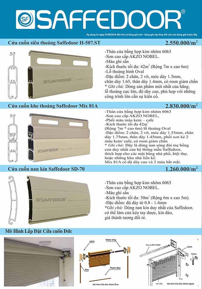 bang giá cửa đức 2 689 - Cửa kéo Đài Loan Dĩ An