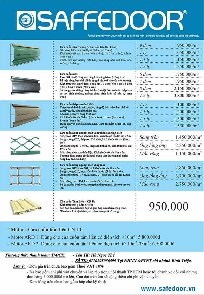 sang ngang mắt võng 689 - Giá cửa cuốn tại Biên Hòa