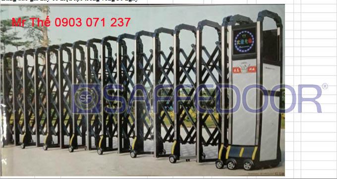 cổng xếp nhôm tphcm