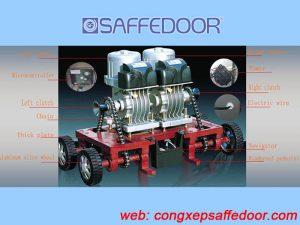 motor cổng 3 300x225 - Báo giá cổng xếp inox chạy điện