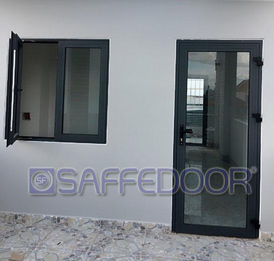 cửa đi 1 cánh 550 - Cửa nhôm xingfa Thuận An Bình Dương