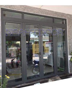 cửa nhôm kính 4 cánh mở quay