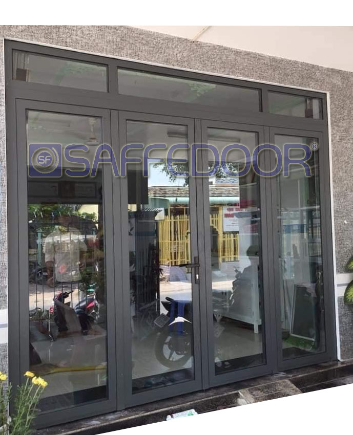 cửa nhôm xingfa 4 cánh mở quay - Cửa nhôm xingfa TPHCM