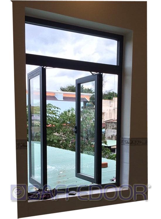 cửa sổ mở quay 2 cánh 550 - Cửa nhôm xingfa Thuận An Bình Dương